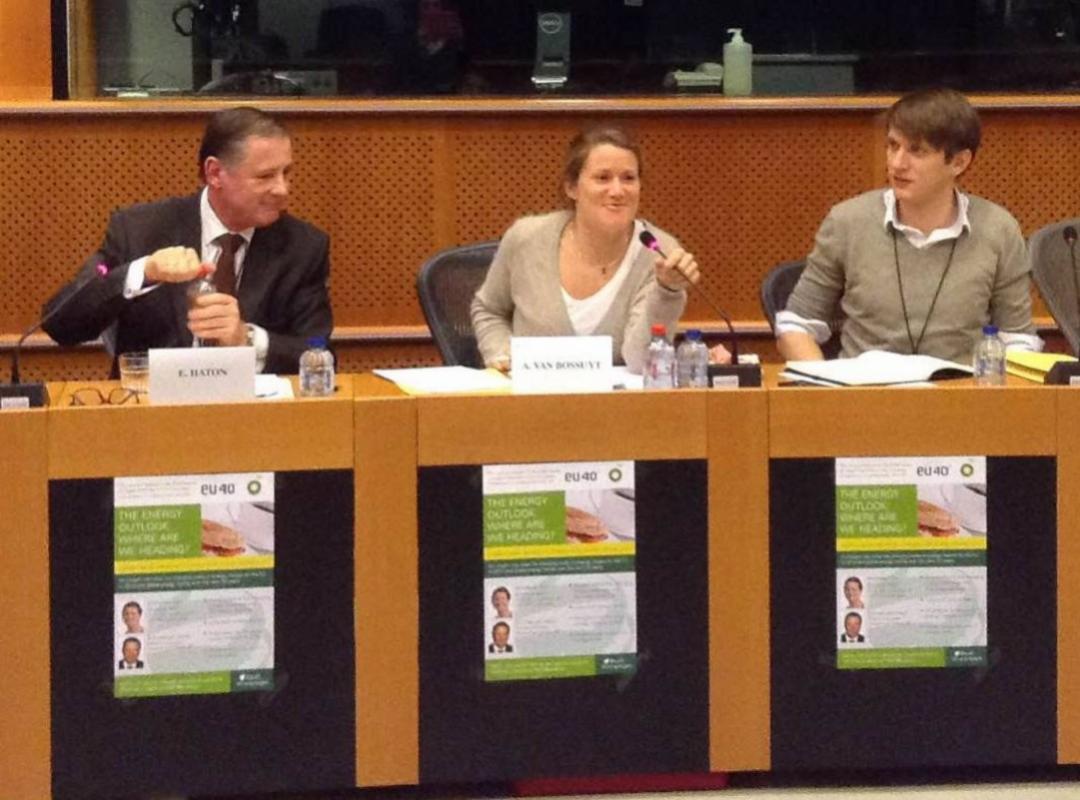 Anneleen Van Bossuyt en Emmanuel Haton van BP
